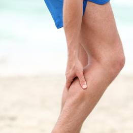 Leg calf sport muscle injury