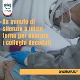 Prima Giornata Nazionale del Personale Sanitario, Sociosanitario, Socioassistenziale e del Volontariato, un minuto di silenzio per le vittime del Covid-19